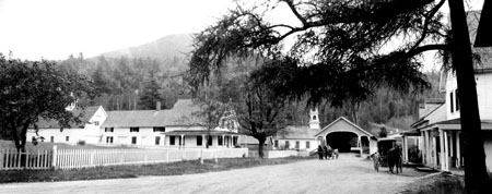 Stark Village, photographed by Guy L. Shorey, c. 1900. Mount Washington Observatory collection.